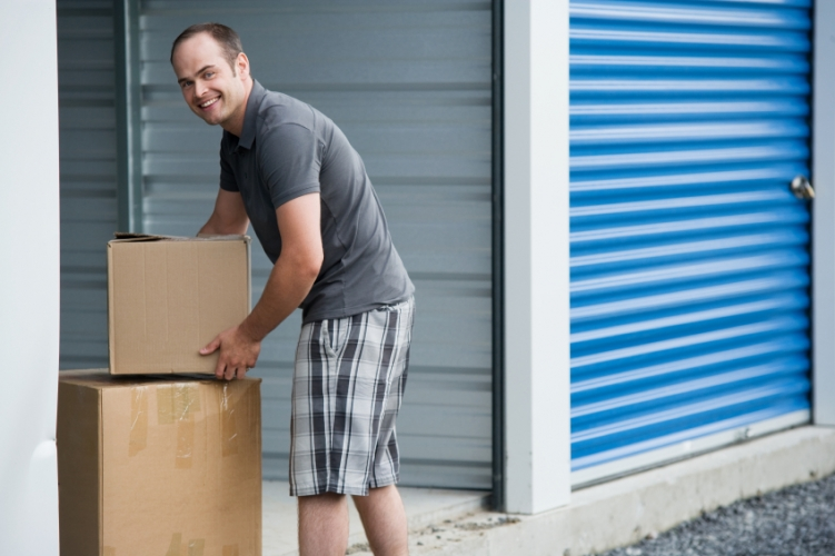 iStock - Moving boxes into self storage
